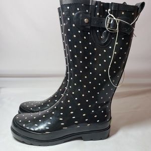 Western Chief Women's Polka Dot Rainboots - Black